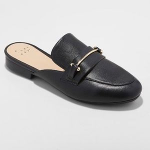 Target a new day women's black loafer mules 8